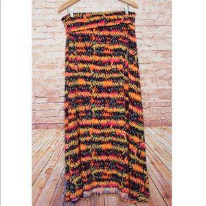 LuLaRoe | Crazy Patterned Maxi Skirt